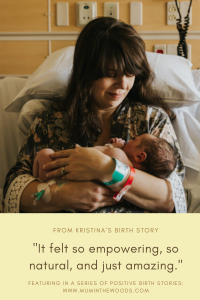 kristina's natural birth story with hypnobabies