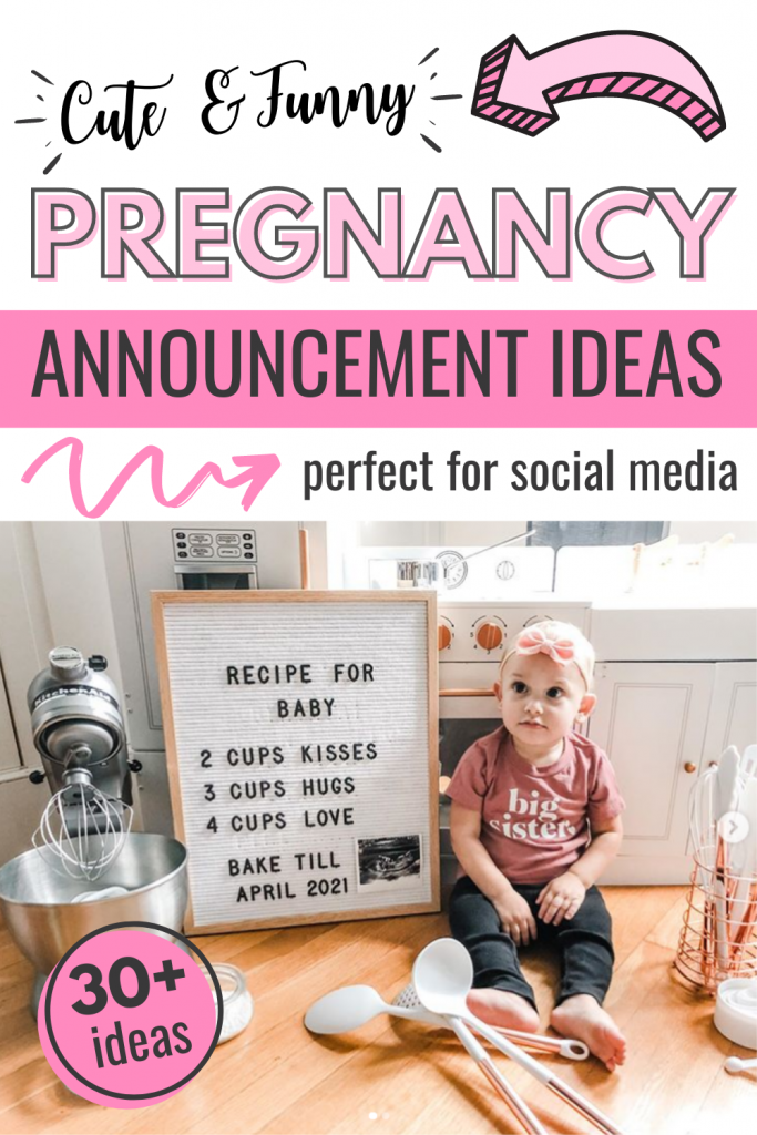 cute and funny ways to announce pregnancy on social media