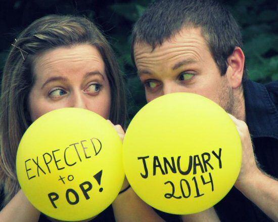 expected to pop pregnancy announcement