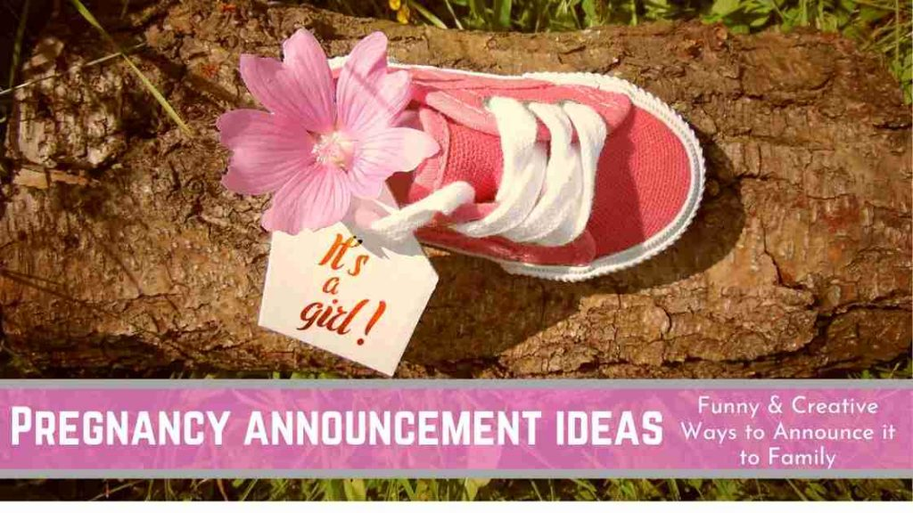 ways of announcing pregnancy to family
