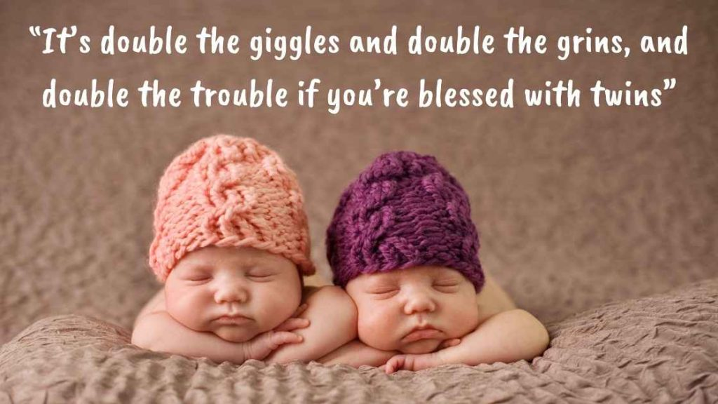 Cute pregnancy quote twins