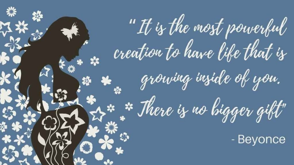 Inspirational pregnancy quote