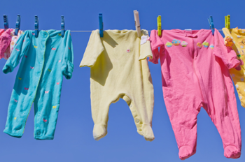 clothes hanging in sun to remove stain