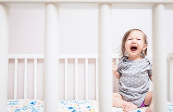 1 year old crying in crib