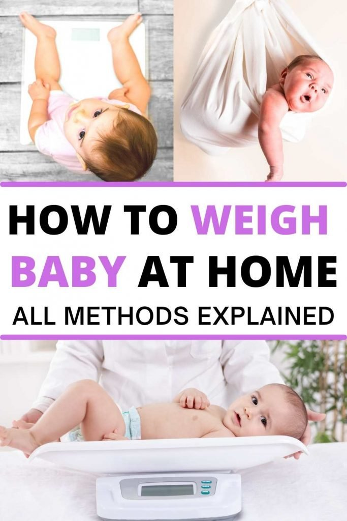 How to weigh baby at home