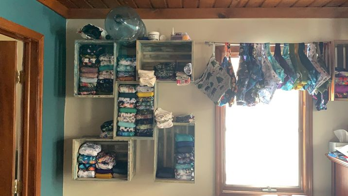 crates storage cloth diapers
