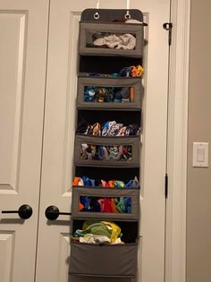 hanging organizer to store cloth diapers