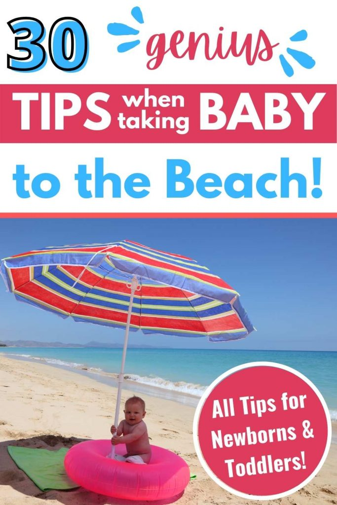 Tips when taking baby to the beach