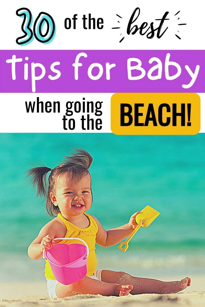 Baby at the beach tips