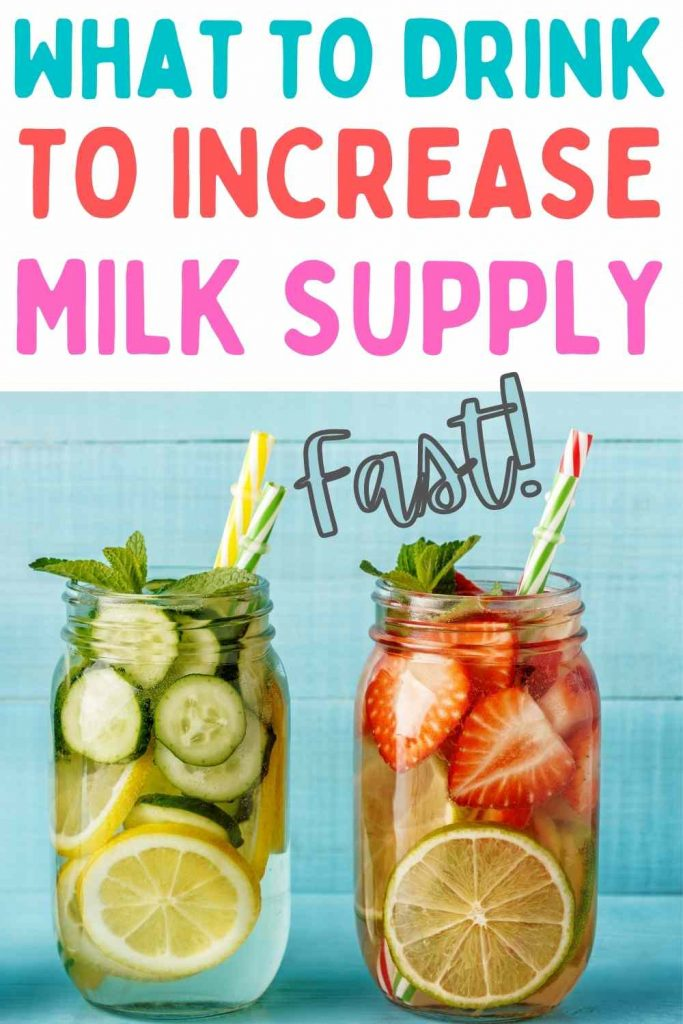 what to drink to increase milk supply
