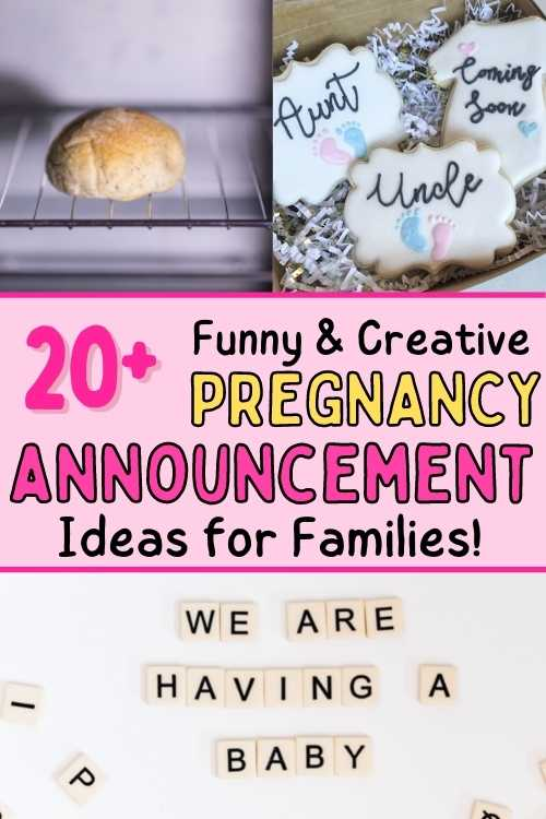 Funny ways to announce pregnancy to family