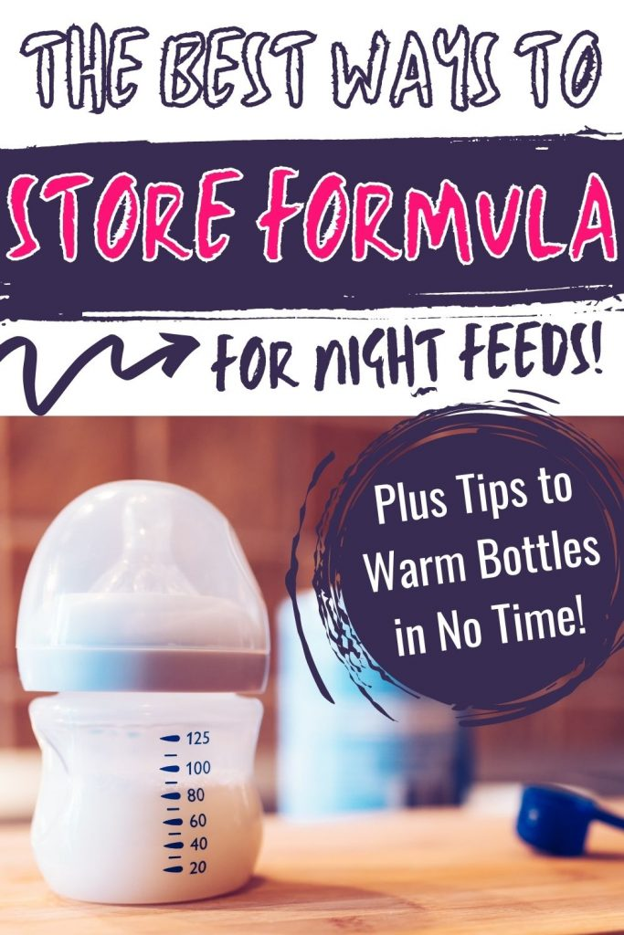 Tips to store formula for night feeds
