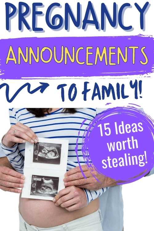 pregnancy announcement ideas to family