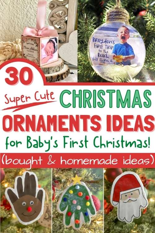 baby's first christmas ornament ideas