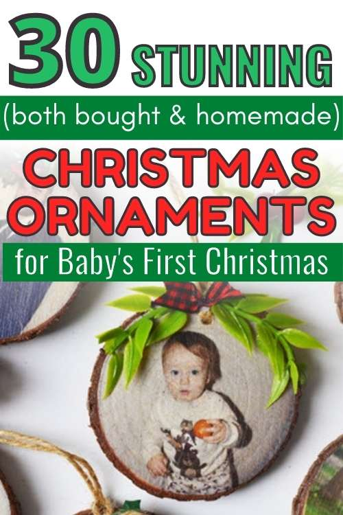 christmas ornaments for baby's first christmas