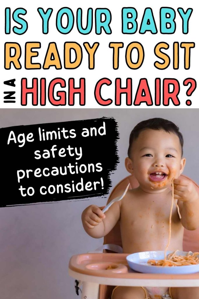 is your baby ready to sit in a high chair