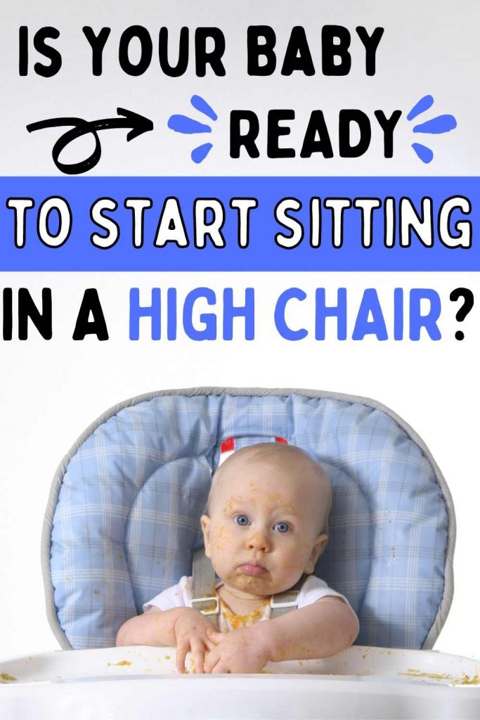 is your baby ready to start sitting in a high chair