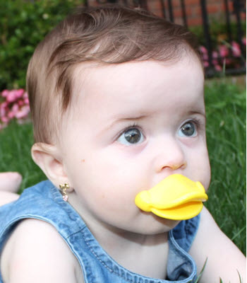 funny duck pacifier