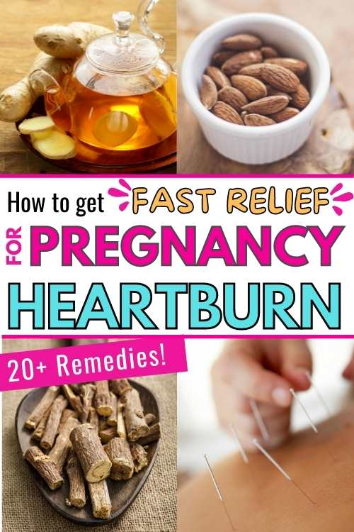 fast relief for pregnancy heartburn