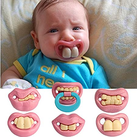 teeth assorted funny pacifiers